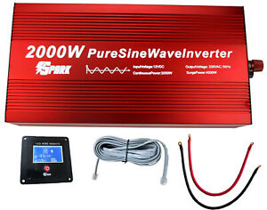 2000W (4000W Peak)  DC 12V AC 240V PURE SINE WAVE POWER INVERTER coffee machine
