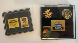 Vintage - 1988 and 1992 Olympic Collector Pins -  Seoul and Barcelona