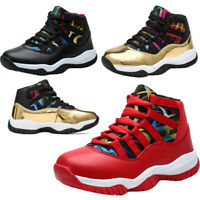 Kids Boys Basketball Shoes Athletic Running Sports Outdoor Fashion Tide Sneakers