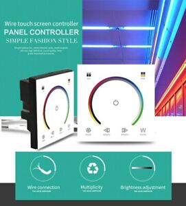 Wall-Mounted Touch Panel LED Controller Dimmer for RGB Strip Light DC 12V-24V 4A