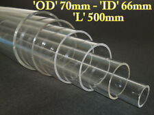 Acrylic Basic Pressure Hull 50mm O/D 46mm I/D and 480mm ( 1/72 Revell uboa Use )