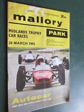 BRSCC  Mallory Park March 1965 Official programme