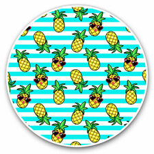 2 x Vinyl Stickers 25cm - Pineapples Stripes Summer Cool Gift #2597