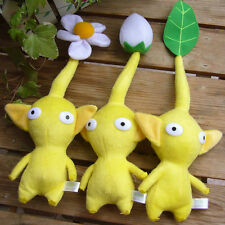 NEW 3pcs/SET NINTENDO ~PIKMIN YELLOW FLOWER BUD/FLOWER/LEAF Stuffed PLUSH DOLLS