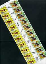 BIRDS OF COLOMBIA >inter space> rare FLOWERS-BIRDS  20 STAMPS 1977 ''CORONATUS'