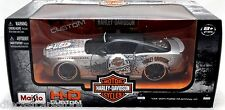 MAISTO 2011 FORD MUSTANG GT GREY / BLACK MOTOR HARLEY DAVIDSON 1/24 CAR