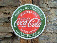 Coca-Cola Sign Vintage Antique Look Coke Ad Retro Basement Garage Picture Gift