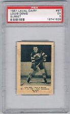 1952 Laval Dairy Subset Hockey Card Montreal Royals #97 Louis Denis Graded PSA 5