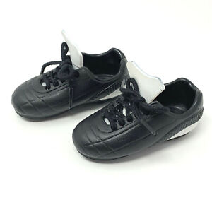 """Battat Our Generation Dolls Team Player Black White Soccer Shoes Fit 18"""" Doll"""