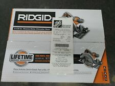 Ridgid Circular Saw 7-1/4 in. W/ Receipt and lifetime warranty. Brand New Sealed