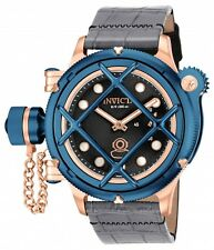 New Men's Invicta 16176 Russian Diver Nautilus Swiss Mechanical Leather Watch