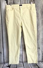NYDJ Not Your Daughter Jeans 16 Alisha Fitted Ankle Jeans Basketweave Yellow