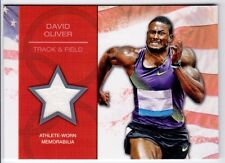 David Oliver 2012 Topps US Olympic Team Olympic Games Athlete-Worn RELIC #OR-DO