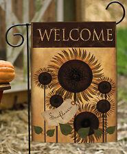 Toland Folk Sunflower 12.5 x 18 Americana Welcome Double Sided Garden Flag