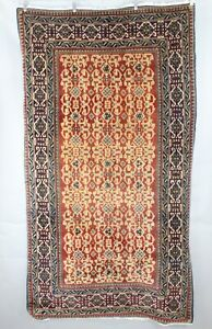Turkomen Deep Red Multicolor 69  x 39 Rug 55011Z