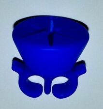 Blue Silicone Wearable Finger Ring Nail Polish Stand Holder Makeup Accessory