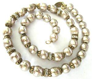 MIRIAM HASKELL Baroque Style Pearl Vintage Necklace
