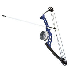 Bowfishing Blue Adult Compound Bow Archery Complete Set, Reel + Arrow