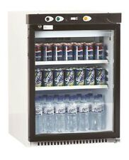 Lec DR149 Glass Door Display Fridge in Black with White Casing. FA7069