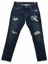 Men's Abercrombie & Fitch RUSTIN Athletic Slim Jeans - Size 28W x 30L - Blue