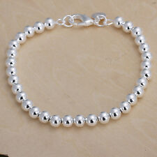 wholesale sterling solid silver fashion jewelry charms 6mm ball Bracelet XLSB114
