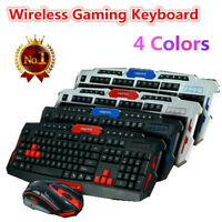 4 Colors 2.4G Wireless Gaming Keyboard / Mouse Set Mechanical Keyboard DPI NEW