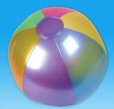 "6 METALLIC BEACH BALLS  18"" Pool Party Beachball NEW! #ST58 Free Shipping"