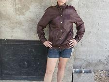 Blouson Cuir femme taille 38 Couleur Prune..gallons,