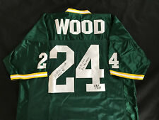 WILLIE WOOD signed LE of 24  jersey 3 Inscriptions GREEN BAY PACKERS HOFer