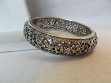 Brighton Zahra filigree silver tone hinged bracelet