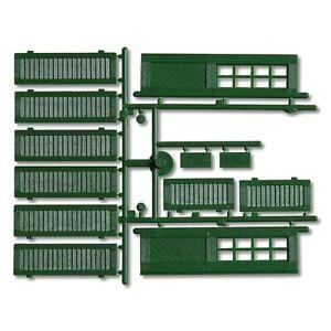 Fensterläden und Türen, grün Faller 333112, 3 Stück, 12-teilig.