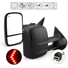 Pair LED Signal Power Heated Tow Mirror For 07-13 Chevy Silverado 1500 2500 3500
