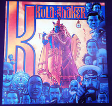 Kula Shaker K original 1996 promo poster 2 sided!  Crispian Mills