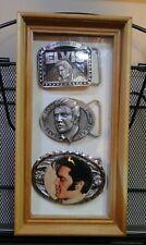 Elvis Belt Buckles - Framed - QTY:3 - Limited Edition -  B - Pics & Descriptions
