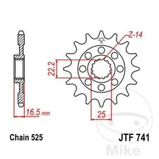 JT Front Sprocket 14T 525 Pitch Ducati 1098 1098 Biposto/Monoposto 2007