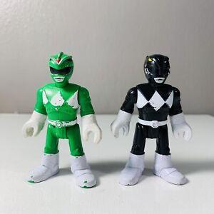 Power Rangers Fisher Price Imaginext Green & Blue Ranger Figure Mighty Morphin
