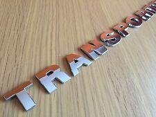 3D CHROME TRANSPORTER BADGE VW T4 T5 T6 REAR TAILGATE CAMPER VAN CARAVELLE