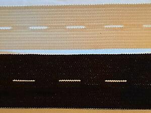 ab 0,69€/M - Lochgummi Knopflochgummi Gummilitze Wäsche16mm / 25mm Weiss Schwarz