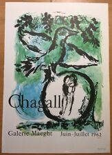 Marc Chagall,Galerie Maeght Mourlot ,Offset Lithograph,Vintage 1966.