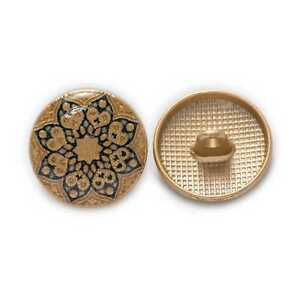 5pcs Retro Flower Round Metal Buttons for Clothing Repair Sewing Handmade Decor