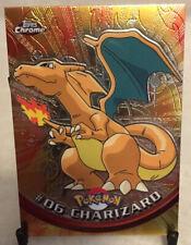 RARE 2000 Topps Chrome Pokemon #06 Charizard Holo Card - NM!