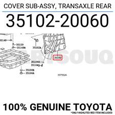 3510220060 Genuine Toyota COVER SUB-ASSY, TRANSAXLE REAR 35102-20060