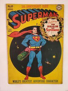SUPERMAN #53 (VG/F 5.0) 1948 ORIGIN STORY OF SUPERMAN! GOLDEN AGE DC COMICS!