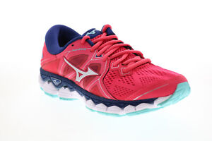 Mizuno Wave Sky 2 J1GD180239 Womens Pink Mesh Lace Up Athletic Running Shoes 7