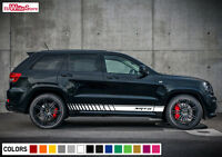 Decal Sticker Graphic Side Stripes for Jeep Grand Cherokee WK2 SRT Door Sill Kit