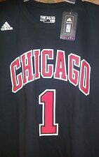 Chicago Bulls NBA Adidas Rose #1 T-shirt, Black, Youth Sz xl or Men's Small