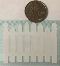 WHITE PICKET FENCE Design Lines Stickers(3pc)Mrs.Grossman's•Yard?•Outside•House•