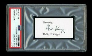 PHIL KNIGHT SIGNED CUT MINT PSA/DNA SLABBED AUTOGRAPHED NIKE CEO OREGON DUCKS