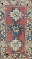 Vintage Tribal Geometric Anatolian Turkish Area Rug Hand-knotted Wool 3x6 Carpet