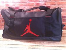 NIKE JUMPMAN AIR JORDAN SPORT DUFFEL Gym Basketball BAG BLACK RED 23 NEW